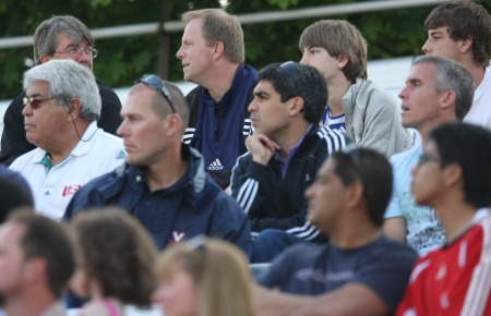 Red Bulls Ambassador Claudio Reyna (center) and Richie Williams (right) were among the spectators.