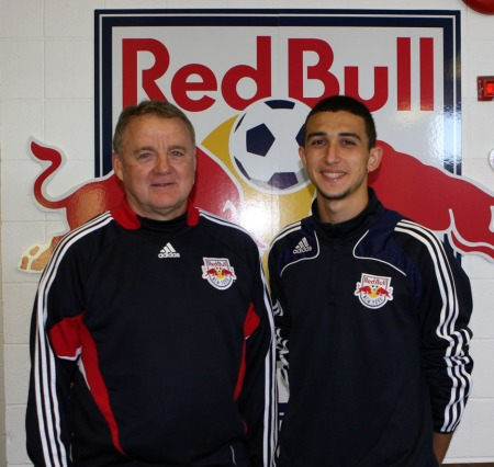 Giorgi Chrigadze with Director of Academy Programs Bob Montgomery